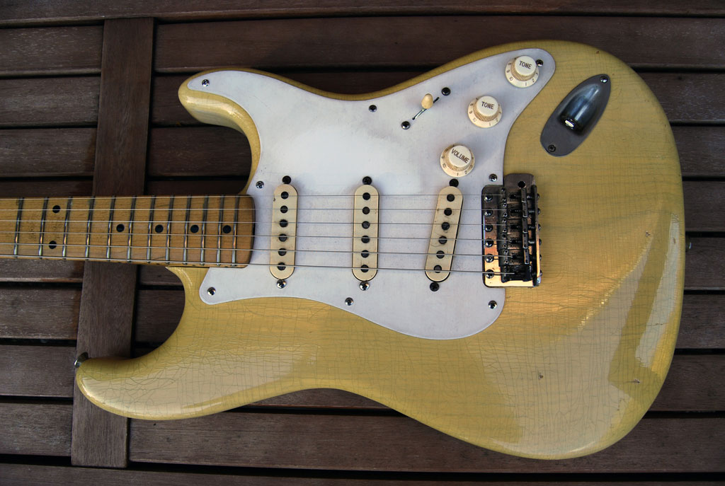 ffender stratocaster blonde refinished - 1957