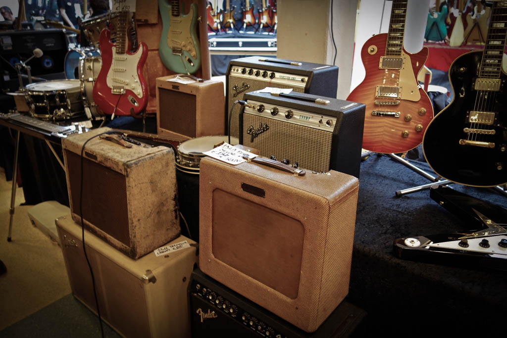 vintage guitar show oldenurg 2013 - fender amps